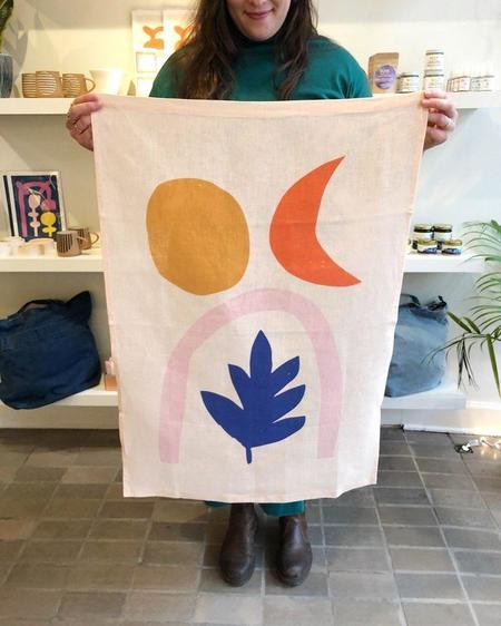 """Claire Ritchie """"Moon Life"""" Fabric Wall Hanging"""