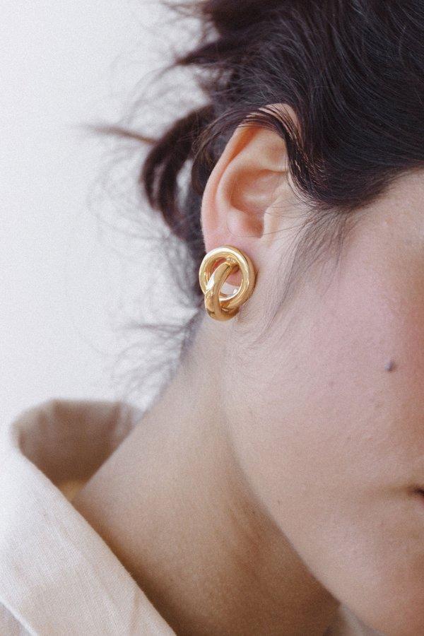 Flash Jewellery Knot Hoop Earrings - Gold