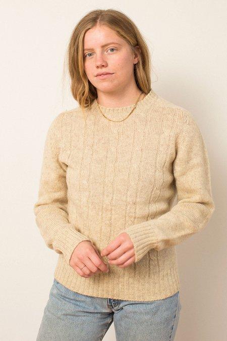 Vintage Preservation Knit Sweater - Beige