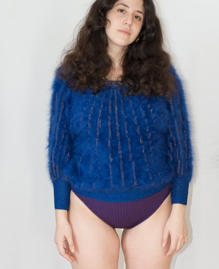 vintage hand knitted Fuzzy sweater