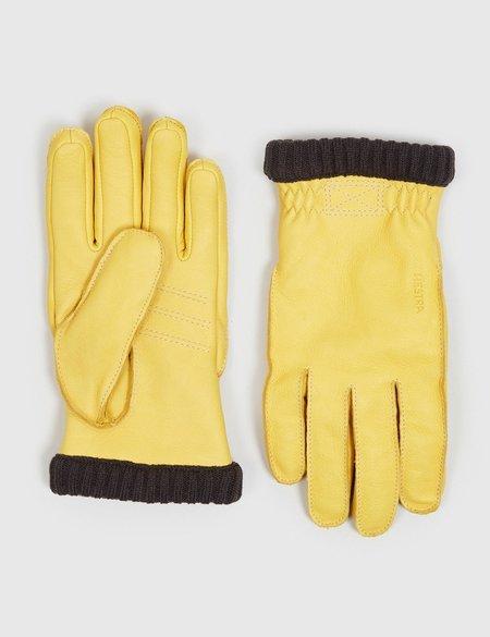 Hestra Deerskin Primaloft Rib Gloves - Natural Yellow