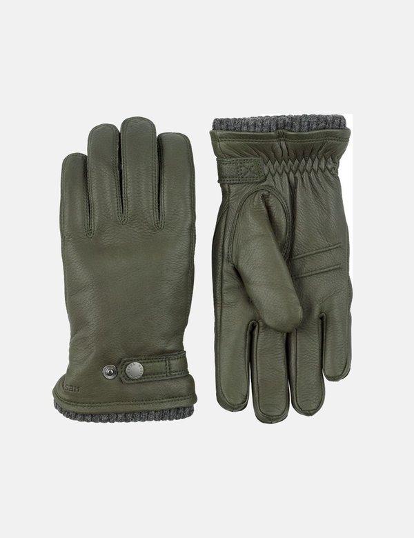 Hestra Utsjo Sport Deerskin Gloves - Forest Green