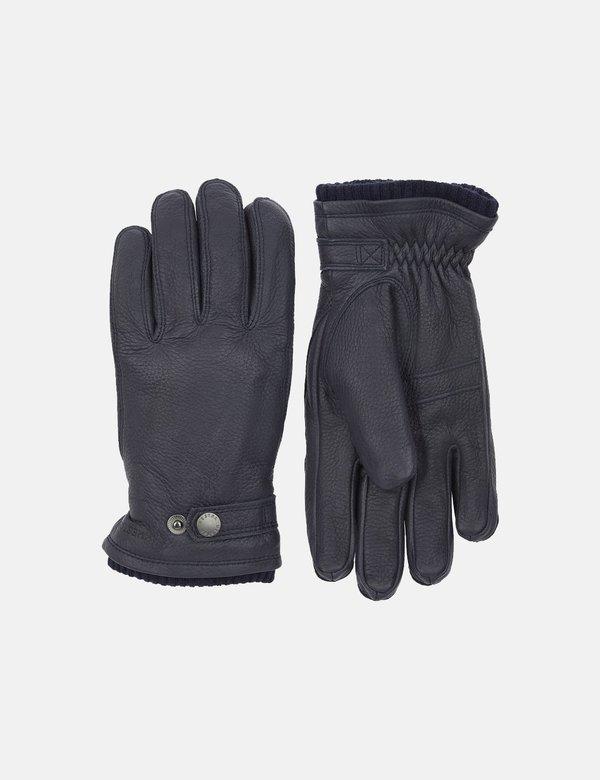 Hestra Utsjo Sport Leather Gloves - Navy Blue
