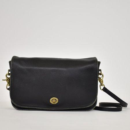 Found Vintage Coach Minimalist Shoulder Bag - Black