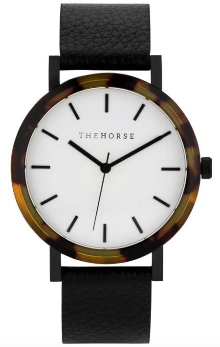 The Horse EM2 mini watch - Tortoise/white face