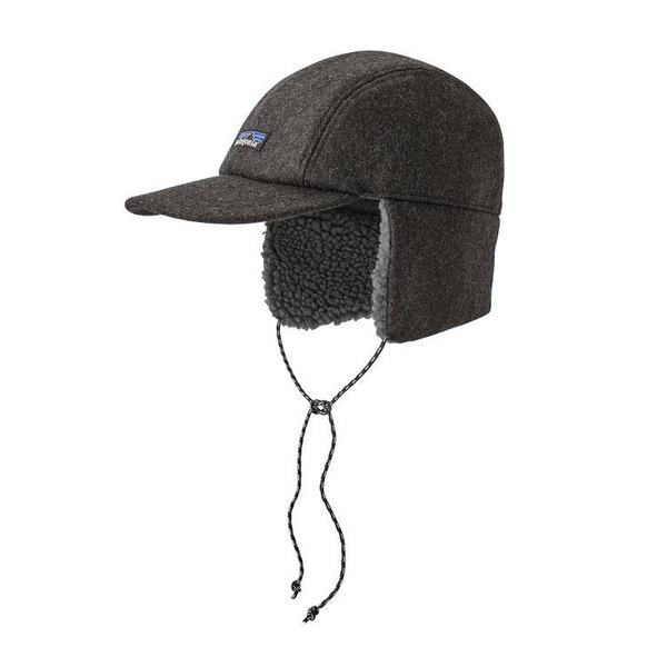 Patagonia Recycled Wool Ear Flap Cap - Forge Grey