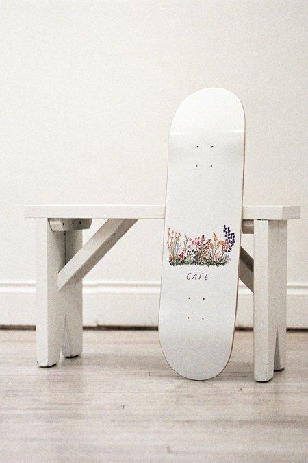 Skateboard Cafe Flower Bed Deck - White