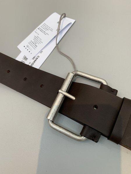 Marni Oversized Buckle Belt - Dark Brown