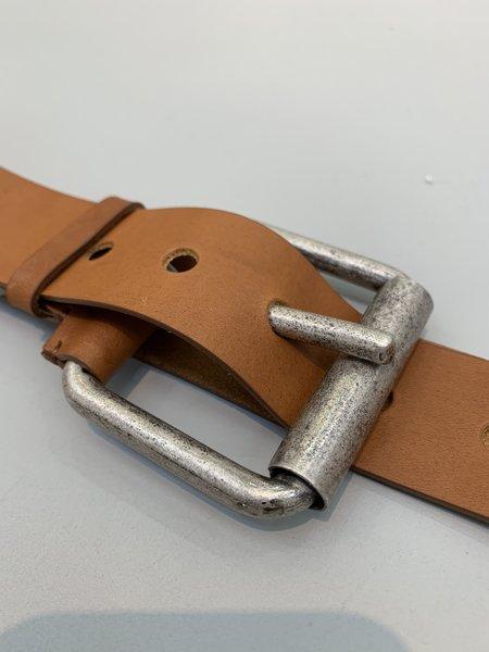 Marni Oversized Buckle Belt - Light Brown