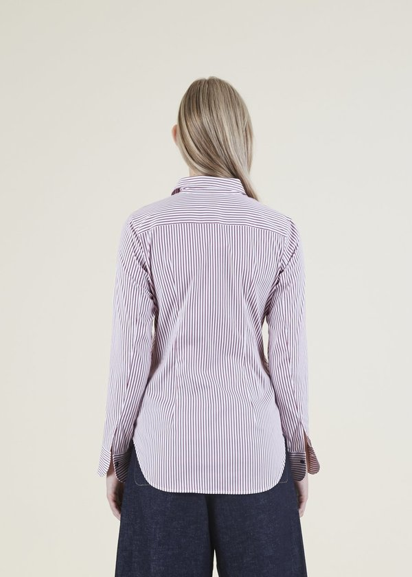 Lareida Charlotte Stripe Shirt - Pottery Red