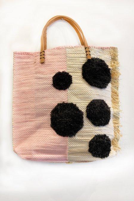 En Shallah Bag - Grey Polka Dots/Pink