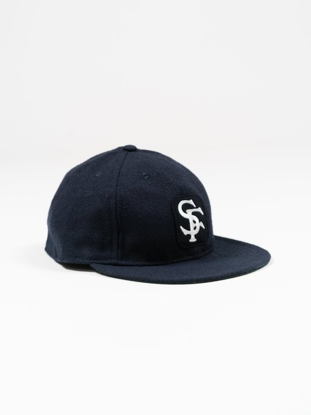 Sassafras SF Logotype Patch Cap - Navy