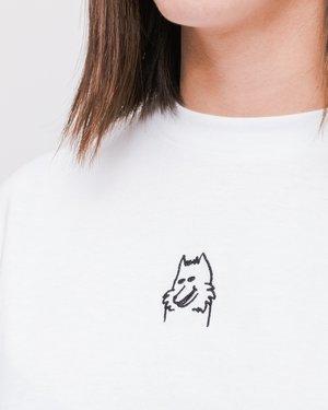 Lazy Oaf I Prefer Dogs T-shirt - White