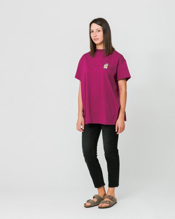 Lazy Oaf Rat Bag Oversized T-Shirt - Burgundy