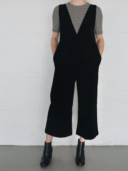 Odeyalo EMERALD corduroy jumpsuit - Black