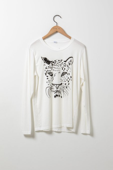 Clare V. Original Whiskers Tee - Ivory