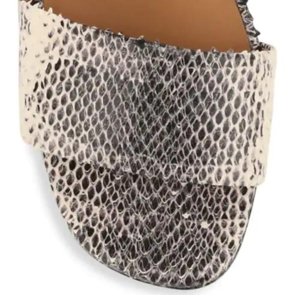 Robert Clergerie Leonieco Leather Snakeskin Embossed Sandals - Cobra