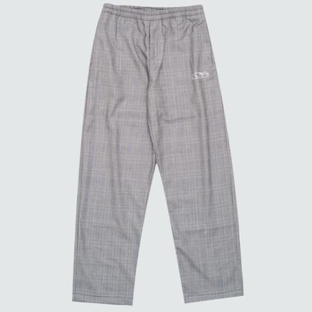 Sneeze Mag Checked Wool Pants - Grey