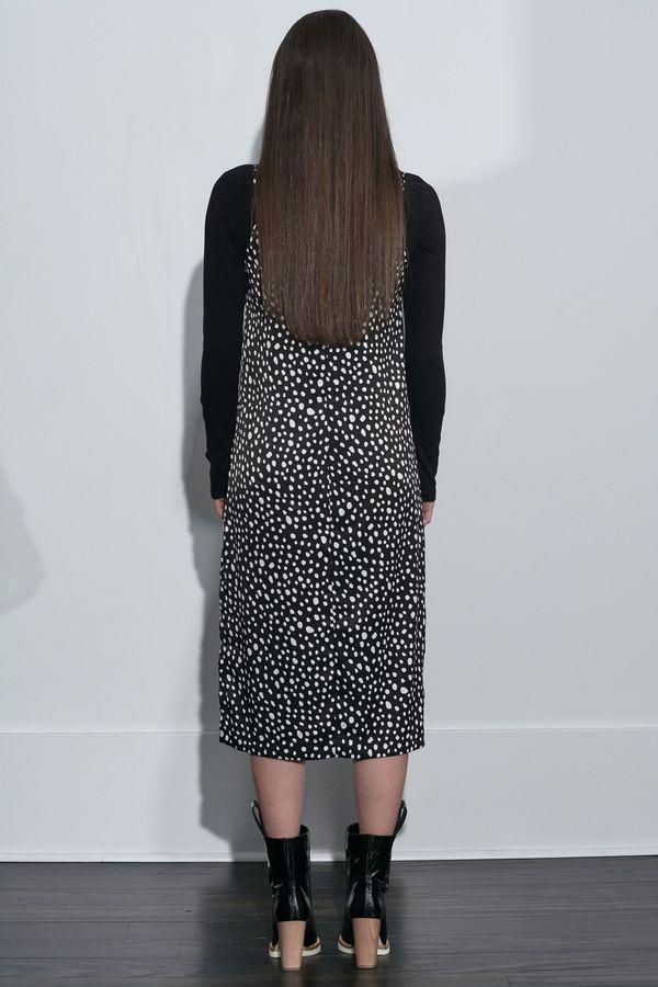Stateside Leopard Slip Dress - Black