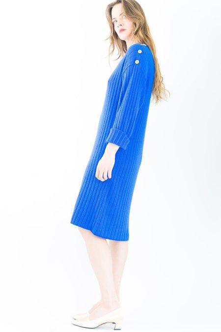 Backtalk PDX Vintage Sweater Dress - Blue