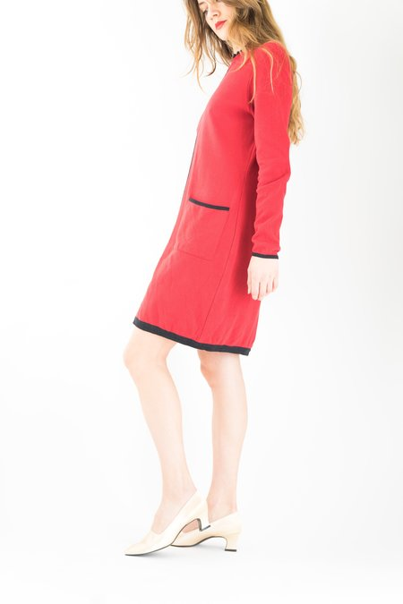Backtalk PDX Vintage Holiday Dress w/ Pockets - Red