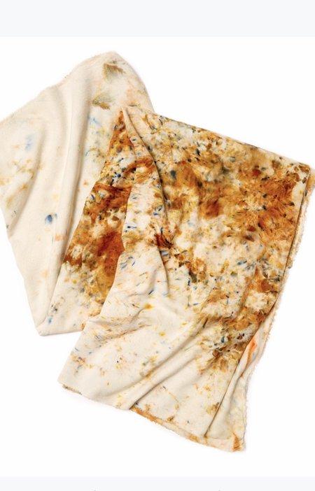 Riverside Tool & Dye Raw Silk Scarf - Carmel