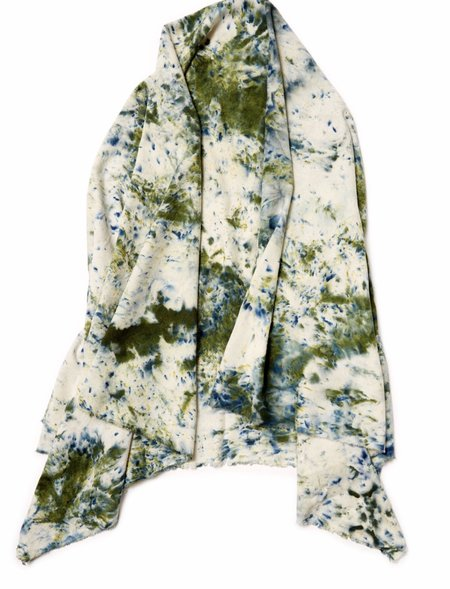 Riverside Tool & Dye Raw Silk Scarf - Moss