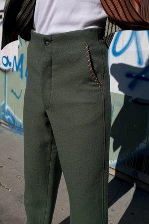 BODE Souvenir Back Buckle Trouser - Seafoam