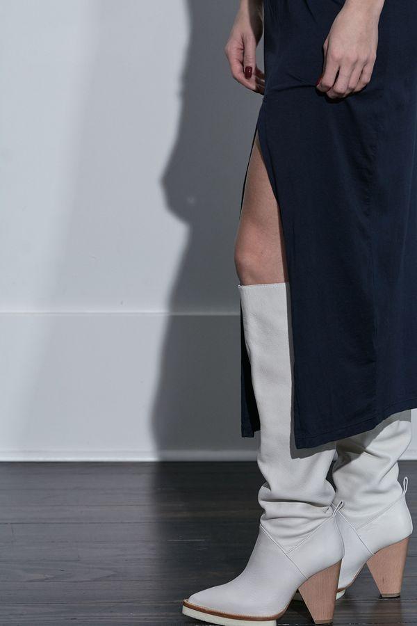 Stateside Supima Twist T-Shirt Maxi Dress - Navy