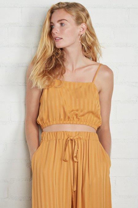 Rachel Pally Shadow Stripe Lumi Top - Marigold