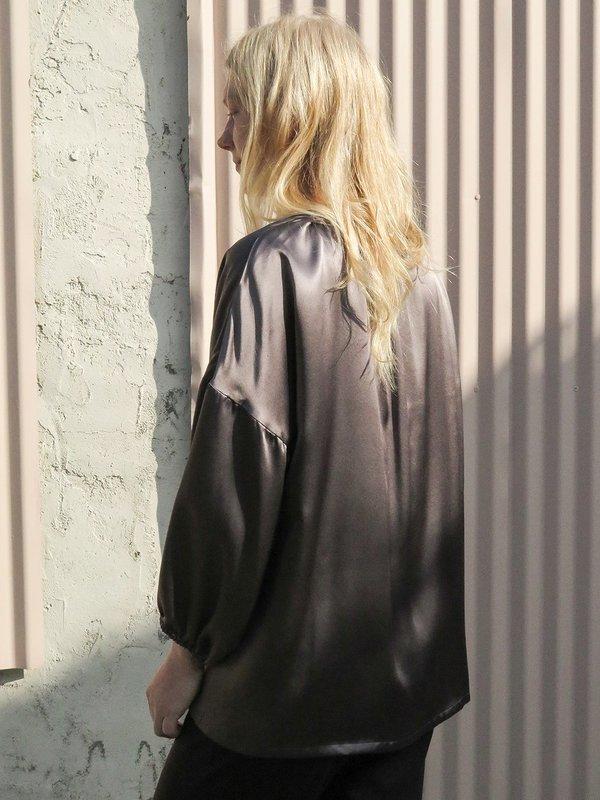 erica tanov patricia blouse - mercury