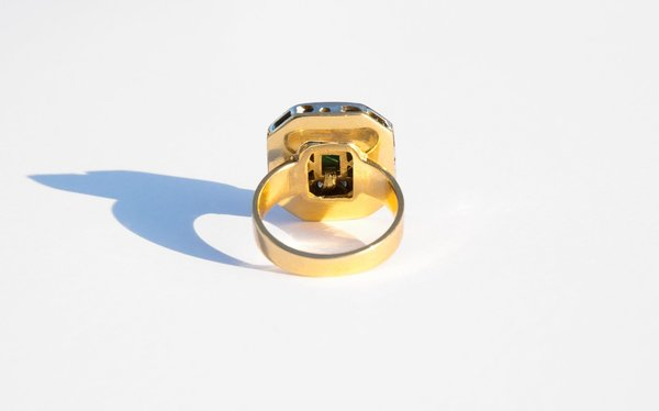 VINTAGE Kindred Black Andorra Ring - 18K GOLD