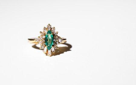 VINTAGE Kindred Black Selim Ring - 14K GOLD