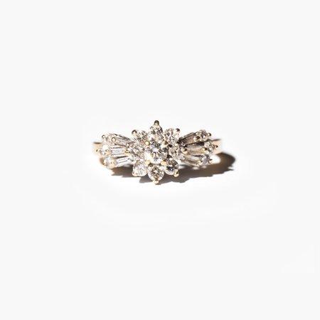 VINTAGE Kindred Black Windrift Ring - 14k gold