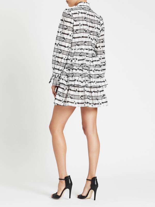 Baum und Pferdgarten Anya Dress - White/Black Blossom Check