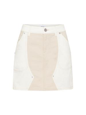 Current Elliott The Agatha Skirt - Oatmeal White