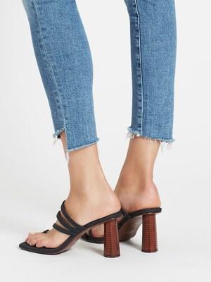 Mother Denim Stunner Zip Ankle Step Fray Jean - Camp Expert