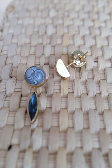 Grainne Morton Detachable Drop Earrings - 18K Gold Plated