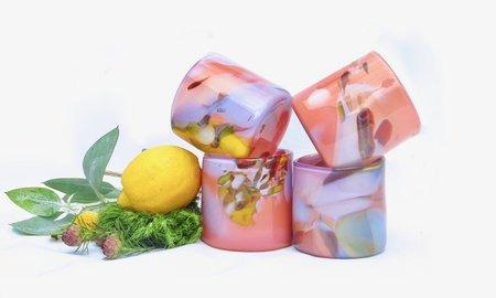 Bale Fire Glass Epiphany Cup - Flamingo