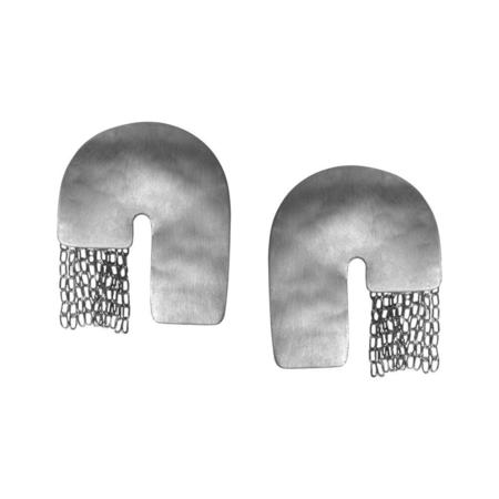 Fripp Chain J earrings - SILVER
