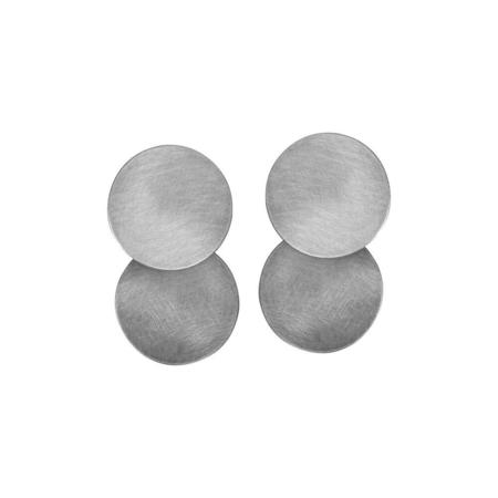 Fripp Double Disk earrings - SILVER