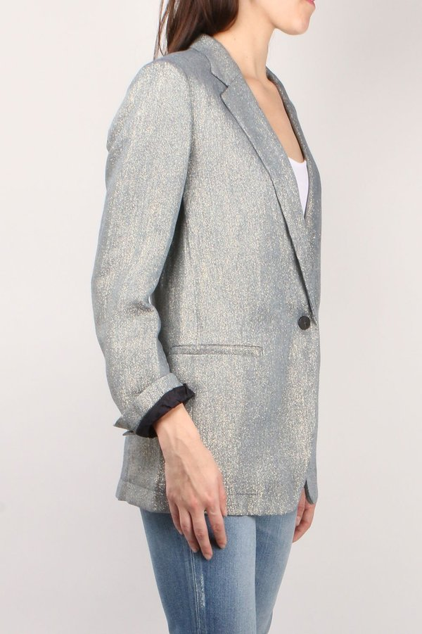 Forte Forte Linen Diagonal Jacket - Indaco