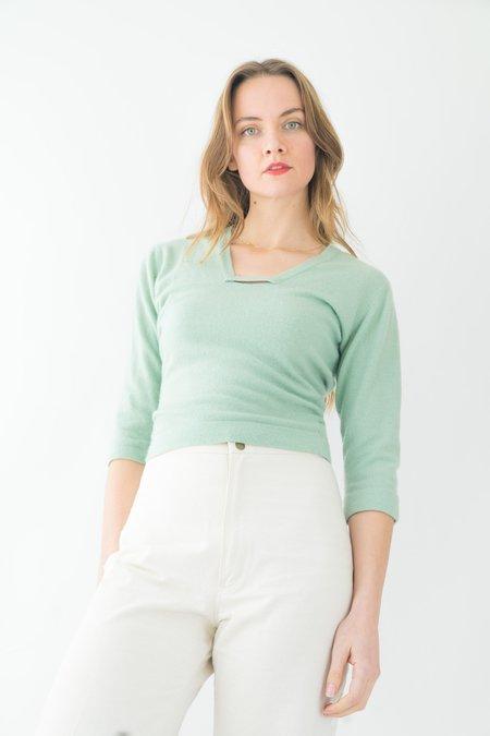 Backtalk PDX Vintage 1950s Cashmere Sweater - Mint Green