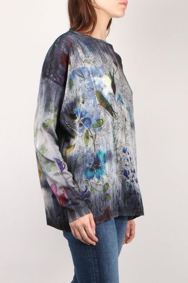 Avant Toi Silk Front Knit - Multi