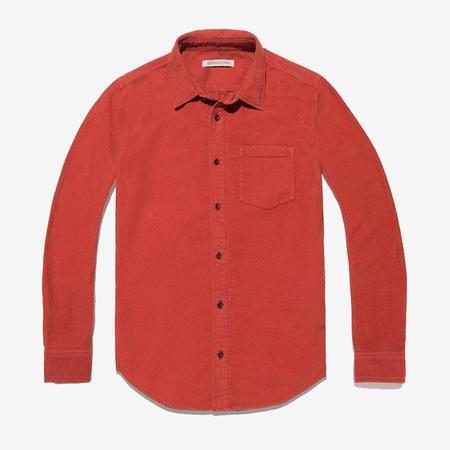 Outerknown Lost Coast Moleskin Shirt - Paprika