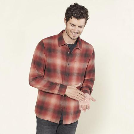 Outerknown Transitional flannel shirt - Mulberry cirrus plaid