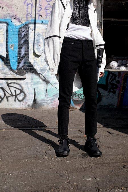 Komakino Denim Folded Oversized Trouser - Black