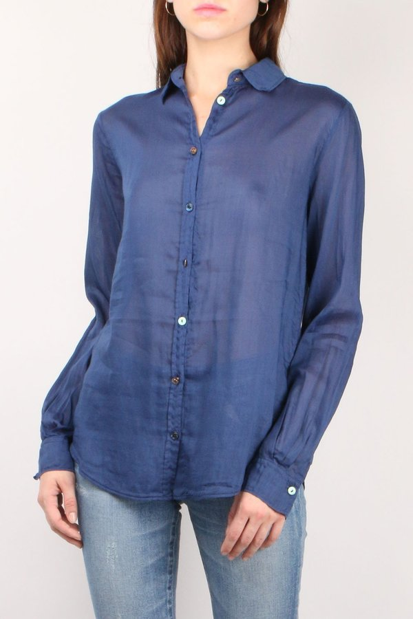 Forte Forte Voile Jewel Shirt - Indaco