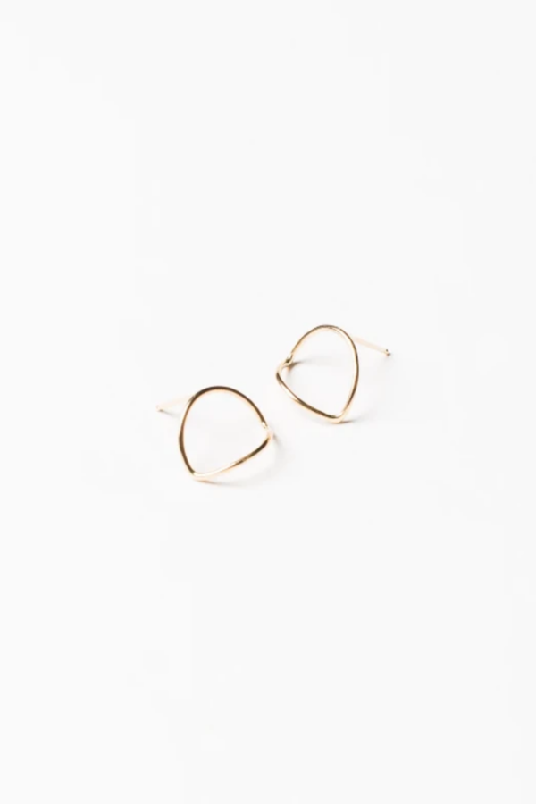 Another Feather Arc Earrings - 14K Gold