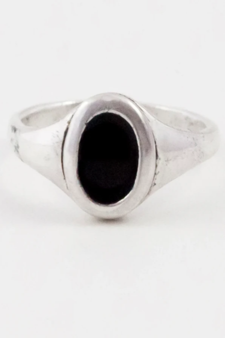 Another Feather Small Platter Ring - Noir